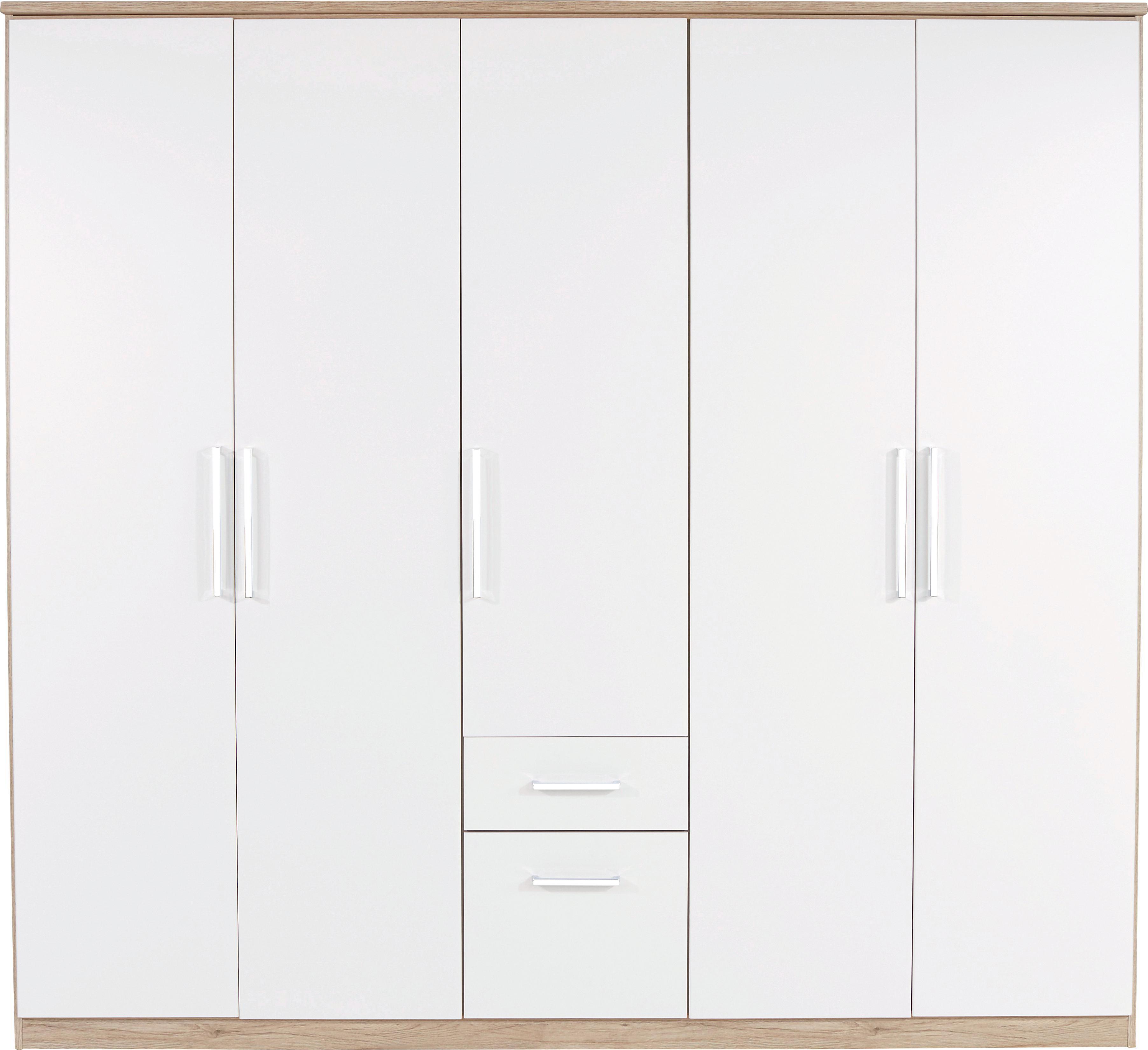 Ruhásszekrény Wien - tölgy színű/fehér, konvencionális, faanyagok (226/212/54cm)