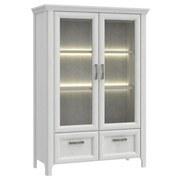 Highboard Alexandria B:106cm - Eichefarben, Basics, Glas/Holzwerkstoff (106,7/156,5/43,6cm)