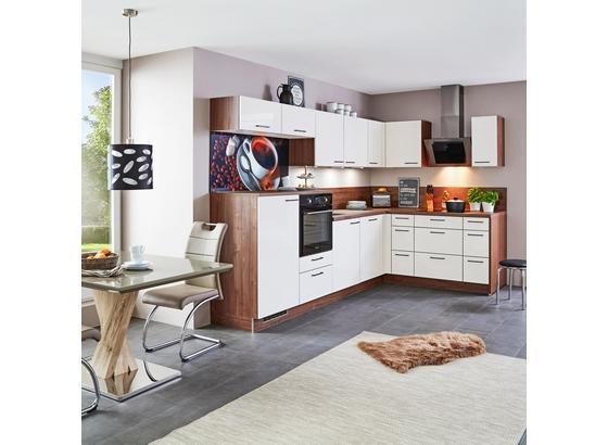Rohová Kuchyňa Star - krémová, Moderný, kompozitné drevo (320/187cm)