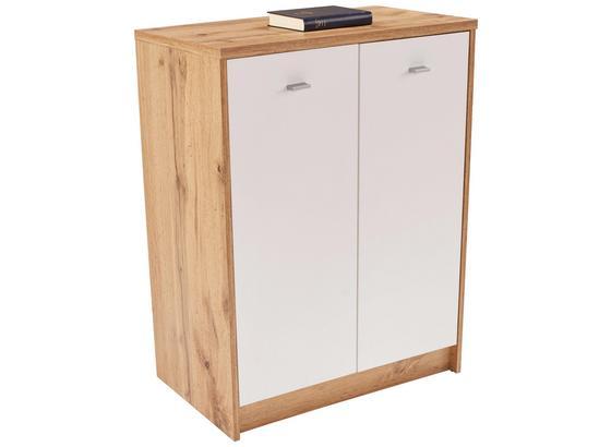 Komoda 4-you New Yuk03 - farby dubu/biela, Moderný, kompozitné drevo (74/85,4/34,6cm)