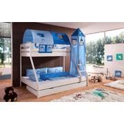 Betttasche Hellblau/dunkelblau - Dunkelblau/Hellblau, Design, Textil (50/28/2cm)