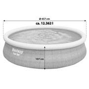 Aufstellpool Fast Ø457x H 107cm mit Leiter 57372 - Grau, MODERN, Kunststoff (457/107cm) - Bestway