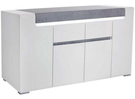Komoda Sideboard Toronto - sivá/biela, Moderný, kompozitné drevo (190/85/42,2cm) - Ombra