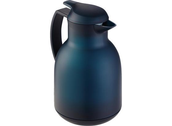 Isolierkanne Bolero - Dunkelblau, KONVENTIONELL, Glas/Kunststoff (16/14.5/25cm) - Leifheit