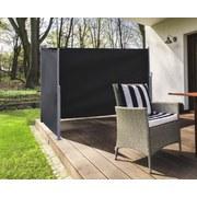 Wind- und Sichtschutz Zweiseitig 2-3x1,6m - Schwarz, MODERN, Textil/Metall (200-300/160cm)