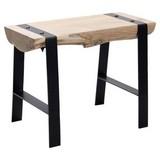 Hocker B: 60 cm Akazie - Schwarz/Akaziefarben, LIFESTYLE, Holz (60/45/28cm) - MID.YOU