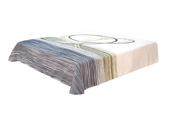 Tagesdecke Amanda 230x226 cm - Anthrazit/Weiß, KONVENTIONELL, Textil (230/226cm)