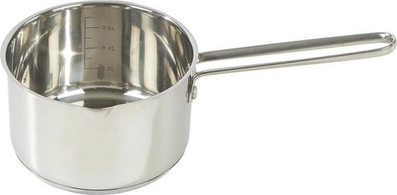 Stielkasserolle 0,6 Liter - Edelstahlfarben, KONVENTIONELL, Glas/Metall (26,5/14/8,5cm) - Berndorf