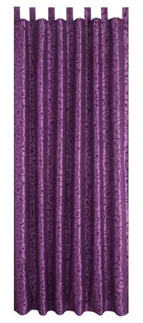 Kombivorhang Elegance - Lila, KONVENTIONELL, Textil (140/255cm) - OMBRA