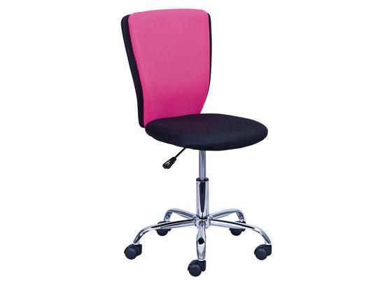 Drehstuhl Cc15-1 B: 41 cm Pink - Pink/Schwarz, Basics, Kunststoff/Textil (41/86-98/51cm) - Livetastic