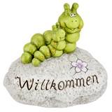 Dekoraupe Willkommen - Grau/Grün, KONVENTIONELL, Kunststoff (33/20/29,5cm) - Ombra