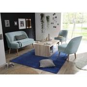 Sessel Pino Es B: ca. 54 cm - Kieferfarben/Hellblau, Trend, Holzwerkstoff/Textil (54/83/66cm) - Carryhome