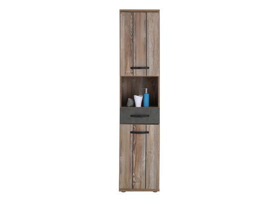 Vysoká Skriňa Catherine - farby borovice/tmavosivá, Moderný, kov/kompozitné drevo (41/183/35cm) - Mömax modern living
