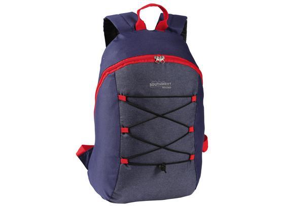 Rucksack Wordlpack - Blau/Rot, Basics, Textil (27/42/16cm)