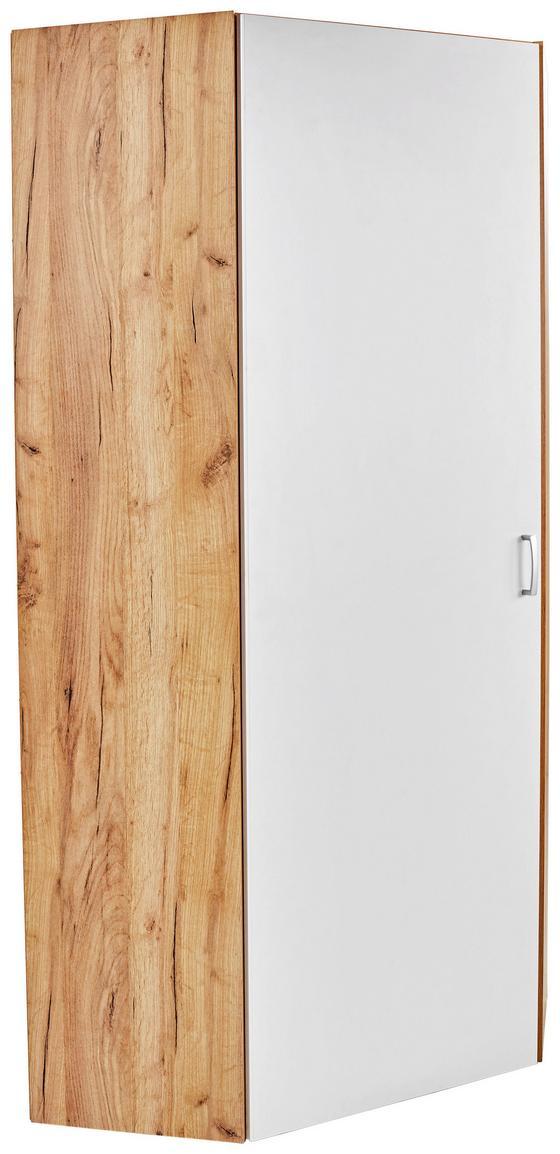 Schrank Tio - Eichefarben/Weiß, MODERN, Holzwerkstoff (80/80cm)