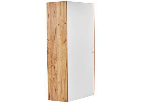 Skriňa Tio - farby dubu/biela, Moderný, kompozitné drevo (80/80cm)