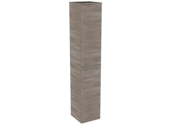 Hochschrank Lima B:31cm Esche Dekor - Eschefarben, MODERN, Glas/Holzwerkstoff (30,5/160,5/32cm) - Fackelmann