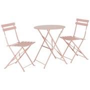 Balkónová Súprava Nice - ružová/svetloružová, kov - Mömax modern living