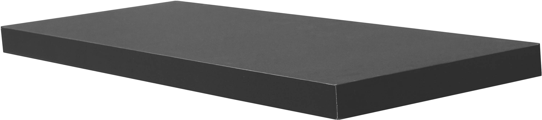 Falipolc Simple - fekete, modern, faanyagok (80/3,8/23,5cm)