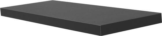 Police Nástěnná Simple 80 - černá, Moderní, dřevěný materiál (80/3,8/23,5cm)