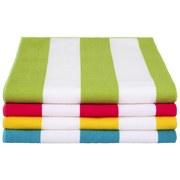Strandtuch Annika - Pink/Gelb, MODERN, Textil (75/150cm) - Luca Bessoni