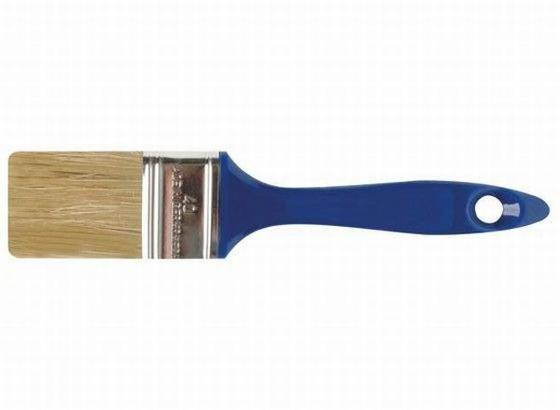 Pinsel 40mm - Silberfarben/Dunkelblau, KONVENTIONELL, Kunststoff/Metall (22cm) - Gebol