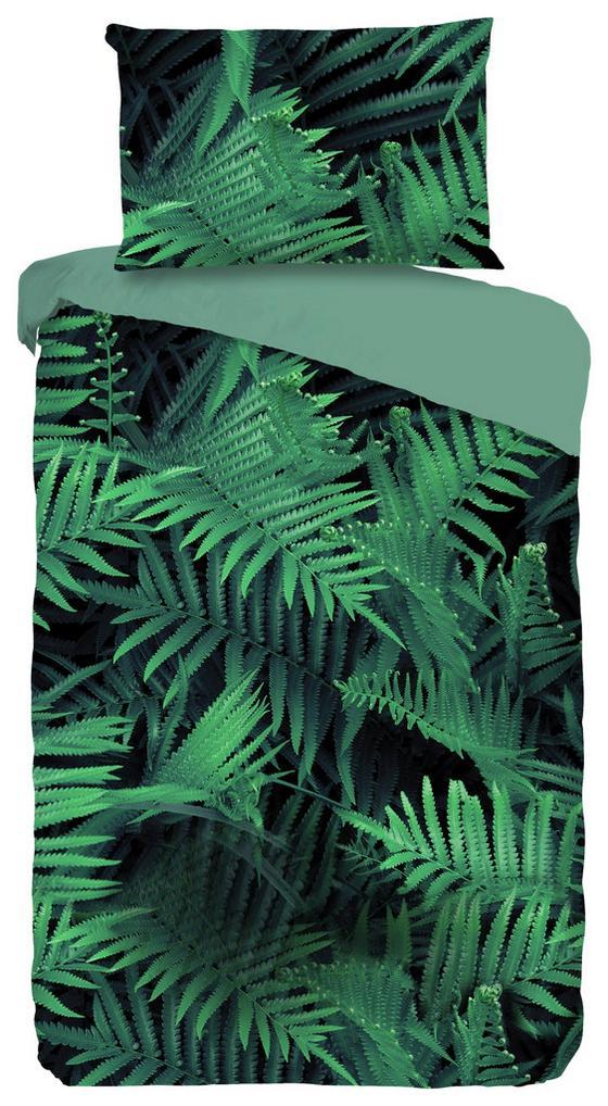 Wendebettwäsche Ferns - Grün, MODERN, Textil