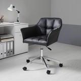 Otočná Stolička Boss - čierna/chrómová, Moderný, kov/textil (66/82,5-96,5/64,5cm) - Mömax modern living