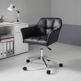 Otočná Židle Boss - černá/barvy chromu, Moderní, kov/textil (66/82,5-96,5/64,5cm) - Mömax modern living