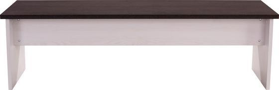 Sitzbank Provence - Wengefarben/Weiß, LIFESTYLE, Holzwerkstoff (160/46/33cm) - James Wood