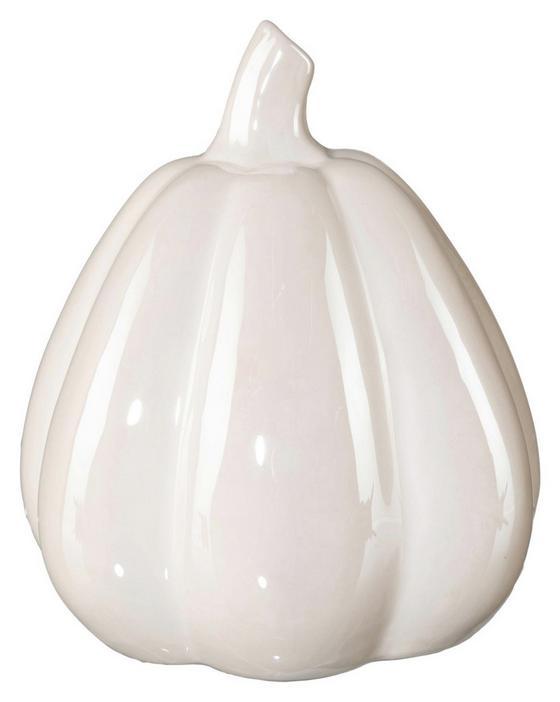 Dekokürbis Ø 10,5 cm - Creme, MODERN, Keramik (10,5/13cm)