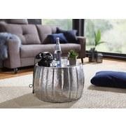 Couchtisch Rund Orient-Style Jamal, Silberfarben - Silberfarben, LIFESTYLE, Metall (60/60/36cm) - Livetastic