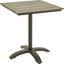 Záhradný Stôl Sammy 6 - sivá/antracitová, kov/plast (70/72/70cm) - Mömax modern living