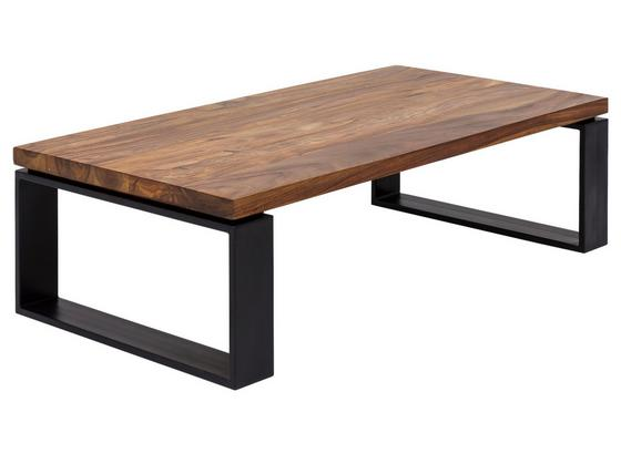 Couchtisch L: 115 cm Sheeham - Sheeshamfarben/Schwarz, Design, Holz/Metall (115/60/35cm) - Carryhome