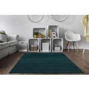 Hochflorteppich Roma 160x230 - Petrol, MODERN, Textil (160/230cm)