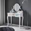 Toaletný Stolík Avery Ca.80x40cm - viacfarebná, Moderný, kov/drevo (80/130/40cm) - Modern Living