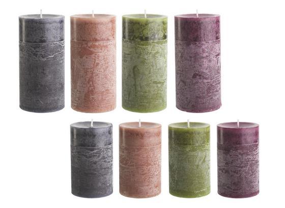Svíčka Holli -top- - růžová/tmavě hnědá, Moderní (7/14cm) - Premium Living