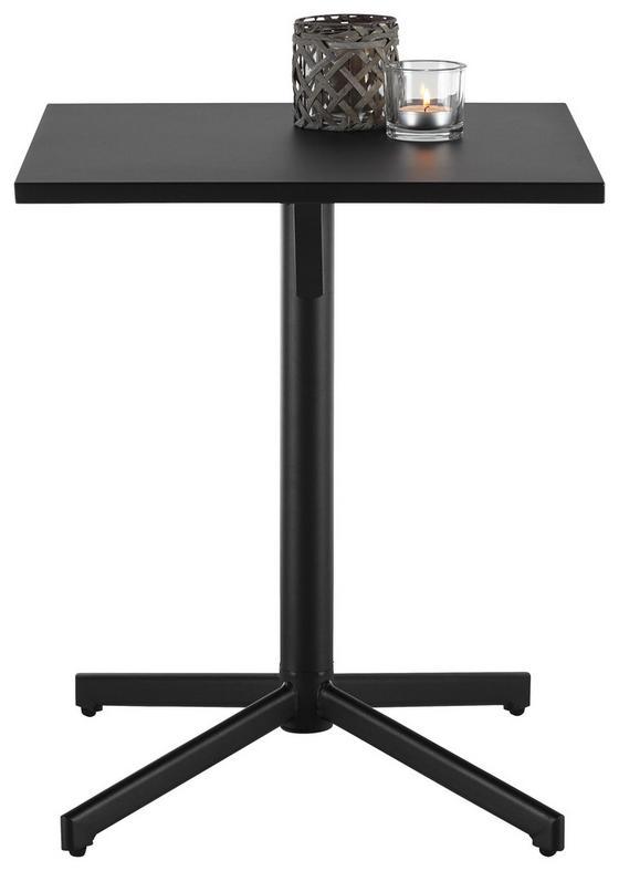 Záhradný Stôl Katar - čierna, kov (60/71/60cm) - Modern Living