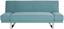 Schlafsofa New York B: 194 cm - Edelstahlfarben/Hellblau, MODERN, Holzwerkstoff/Textil (194/81/89cm) - Luca Bessoni