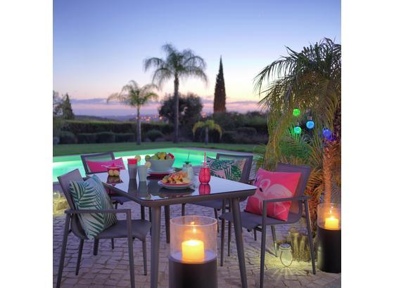 Záhradný Stôl San Antonio - sivá/tmavosivá, kov/sklo (140/75/90cm) - Modern Living