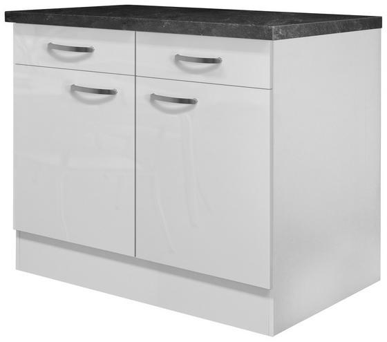 Kuchyňská Spodní Skříňka Alba  Us 100 - bílá, Moderní, dřevěný materiál (100/86/57cm)