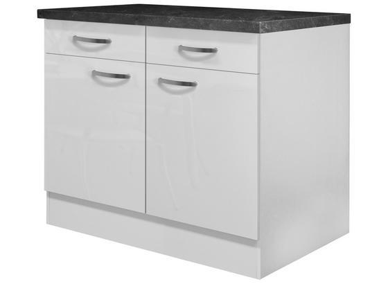 Küchenunterschrank Alba  Us 100 - Weiß, MODERN, Holzwerkstoff (100/86/57cm)