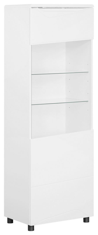 Highboard Newport 56cm Weiss - Weiß, MODERN, Holzwerkstoff (56/168/39cm)