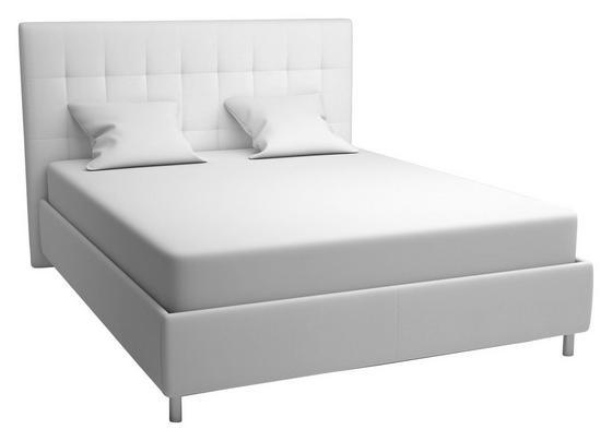 Polsterbett Capri 180x200 Weiß - Schwarz/Weiß, MODERN, Holz/Textil (193/120/212cm)