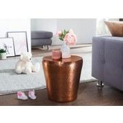 Beistelltisch Vikram D: 40cm Kupferfarben - Kupferfarben, LIFESTYLE, Metall (40/40/41cm) - Carryhome