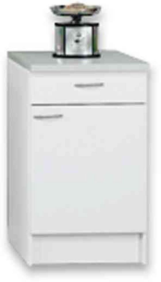 Kuchyňská Spodní Skříňka Speed - bílá, Moderní, dřevěný materiál (50/85/47cm)