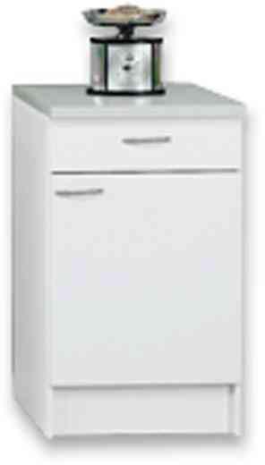 Küchenunterschrank Speed  Us 50-50 W - Weiß, MODERN, Holzwerkstoff (50/85/47cm)
