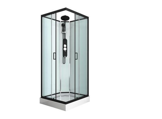 Duschkabine Epic 2 - Schwarz, MODERN, Glas/Metall (90/90/225cm) - Sanotechnik
