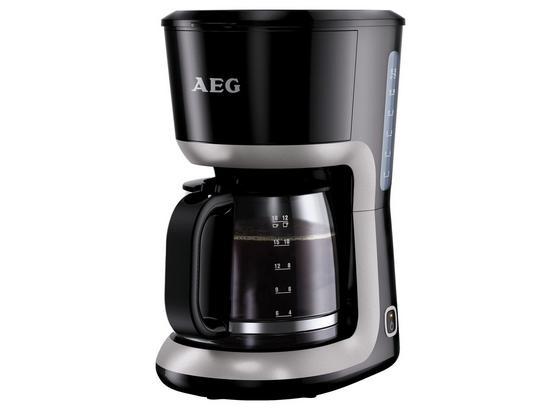 AEG Filterkaffeemaschine Kf 3300 Glaskanne Bis 18 Tassen - Schwarz, MODERN, Glas/Kunststoff (19/31,5/28,5cm) - AEG