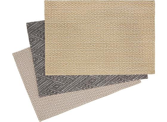Prostírání Eduard - světle šedá/antracitová, Konvenční, textil (30/45cm) - Mömax modern living